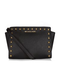 Michael Michael Kors Selma Studded Messenger Bag Female Black