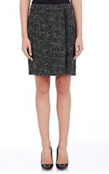 Barneys New York Tweed Skirt Black Size 0 Us