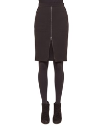 Akris Punto Zip Front Zip Pocket Pencil Skirt