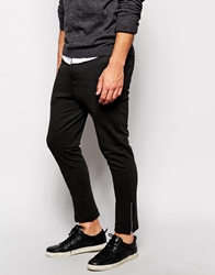 Vito Unstructured Jersey Suit Trousers In Slim Fit Darkgrey