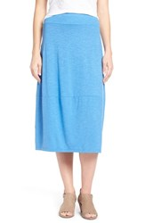 Women's Eileen Fisher Hemp And Organic Cotton Lantern Skirt Blue Bell