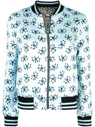 Alice Olivia Lonnie Reversible Bomber Blue
