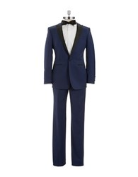 Calvin Klein Two Piece Contrast Trim Tuxedo Blue