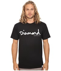 Diamond Supply Co. Og Script Tee Black Men's T Shirt