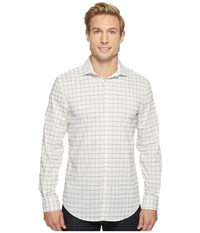Perry Ellis Long Sleeve Multicolor Check Shirt Micro Chip Men's Long Sleeve Button Up Pink