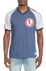 Men's Mitchell And Ness 'St. Louis Cardinals Race To The Finish' Tailored Fit Raglan Sleeve T Shirt