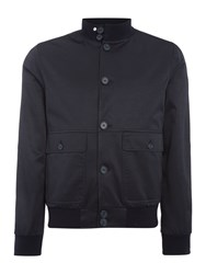 Peter Werth Social Button Through Bomber Jacket Navy