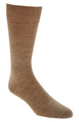 Lorenzo Uomo Men's Merino Wool Blend Socks Taupe