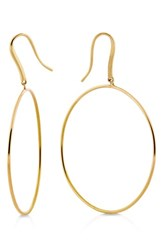 Lana Jewelry Wire Bangle Hoop Earrings Yellow Gold