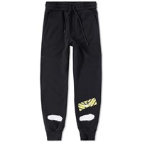 Off White Diagonals Spray Sweat Pants Black