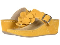 David Tate Spring Mustard Suede Clog Mule Shoes Yellow