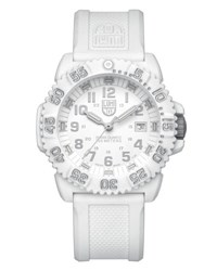 Luminox 44Mm Navy Seal 3050 Series Colormark Watch White