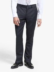 Paul Smith Windowpane Check Tailored Fit Suit Trousers Navy