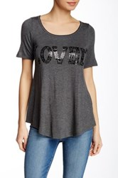 Vanilla Sugar Loved Short Sleeve Scoop Tee Gray
