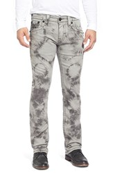 Men's Rock Revival 'Jack Alternative' Straight Leg Tie Dye Jeans Light Grey