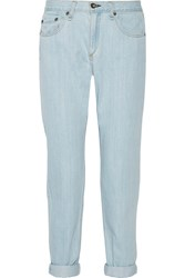 Rag And Bone Mid Rise Boyfriend Jeans Blue