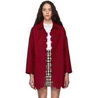 Red Valentino Wool Scallop Coat