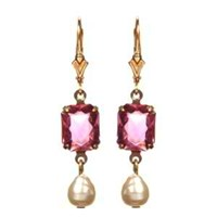 Passionate About Vintage Georgian Rhinestone Earrings In Pink