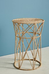Anthropologie Angled Jute Side Table Neutral