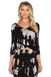 Gypsy 05 Bamboo 3 4 Sleeve Top Black