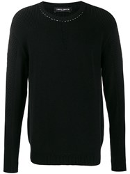 Frankie Morello Ribbed Contrast Stitching Jumper 60
