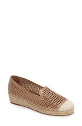 Bella Vita Women's Channing Cutout Espadrille Loafer Saddle Leather