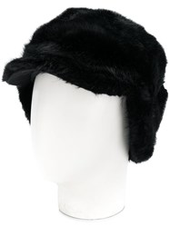 Urbancode Textured Furry Hat Black
