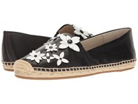 Michael Michael Kors Lola Espadrille Black Optic White Nappa Patent Women's Dress Sandals