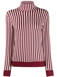 Sara Lanzi Striped Jumper Red
