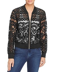 Aqua Lace Bomber Jacket Black