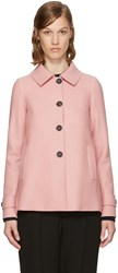 Harris Wharf London Pink Wool Short Loden Coat