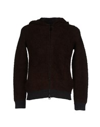 Daniele Alessandrini Knitwear Cardigans Men Dark Brown