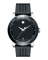 42Mm Museum Sport Watch With Rubber Strap Black Movado