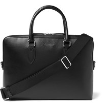 Burberry Cross Grain Leather Briefcase Black
