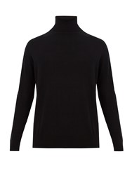 Raey Roll Neck Cotton Knit Sweater Black