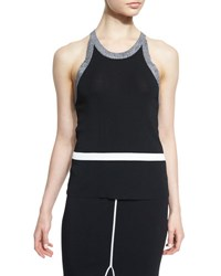 Rag And Bone Lucine Stretch Racerback Tank Black White