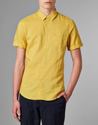 Farah Vintage Short Sleeve Shirt Yellow