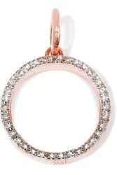 Monica Vinader Naida Circle Rose Gold Plated Diamond Pendant