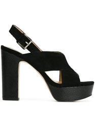 Michael Michael Kors Criss Cross Strap Sandals Black