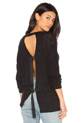 Feel The Piece Oliver Tie Back Sweater Black