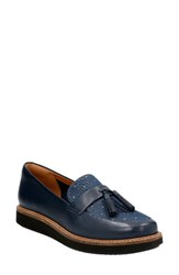 Clarksr Women's Clarks Glick Castine Tassel Loafer Navy Leather