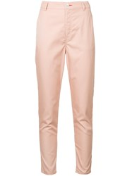 Loveless Classic Slim Fit Trousers Pink And Purple