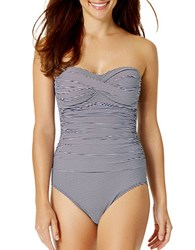 Anne Cole Strapless One Piece Blue