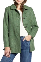 Pendleton Casper Mel Wool Blend Barn Coat Moss