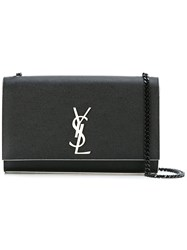Saint Laurent Medium Monogram Kate Chain Bag Women Calf Leather One Size Black