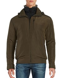 Weatherproof Rugged Oxford Bomber Jacket Army