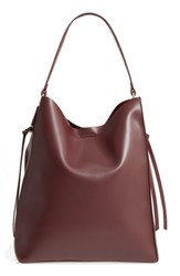 Sole Society Faux Leather Bucket Bag And Zip Pouch Burgundy Oxblood