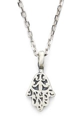 Women's Satya Jewelry Hamsa Pendant Necklace Silver
