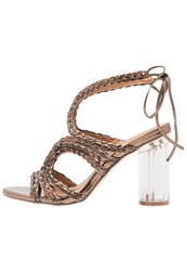 Glamorous High Heeled Sandals Bronze Copper