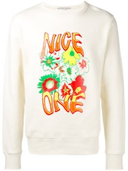 Stella Mccartney Nice One Sweatshirt White